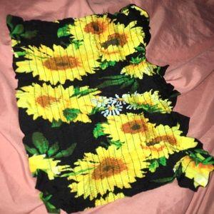 Sunflower Tube Top